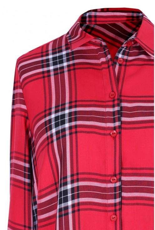Czerwona koszula w kratę PAMELA