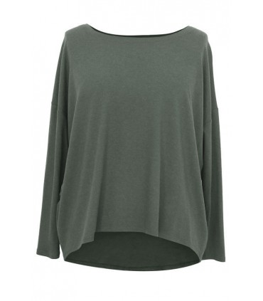 KHAKI dzianinowa bluzka oversize ERIN 2