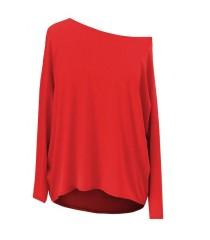 Czerwona dzianinowa bluzka oversize ERIN