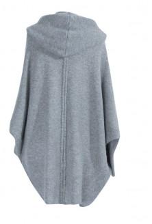 Jasnoszary sweter niezapinany z kapturem SHIRLEY