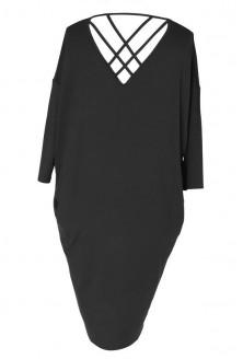 Czarna sukienka z paseczkami na plecach ESTHER