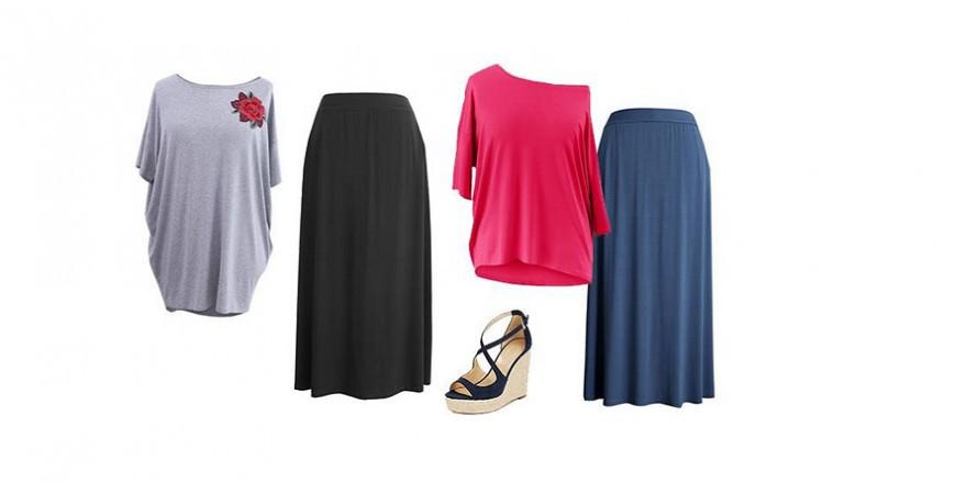 Dzianinowe spódnice maxi w rozmiarze plus size - sklep XL-ka