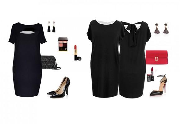 Czarne sukienki w dużych rozmiarach w XL-ka