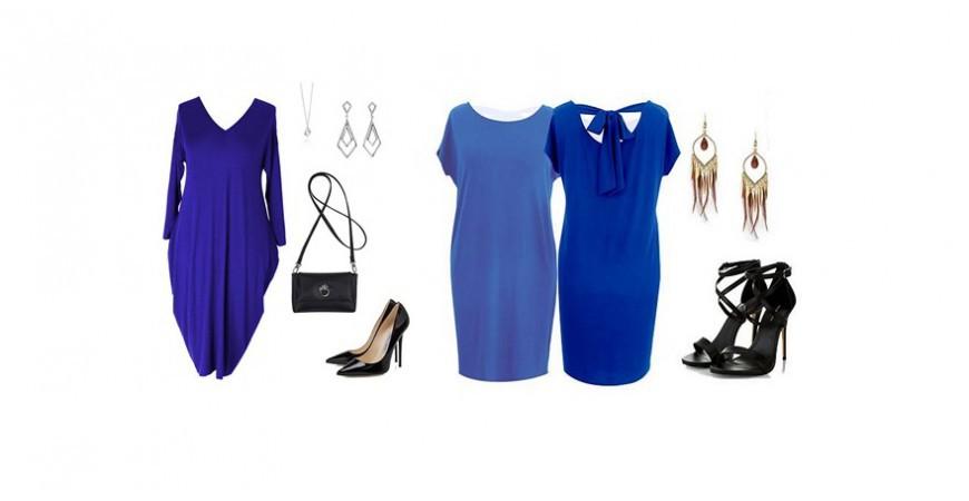 Sukienki kobaltowe na każdą okazję w rozmiarach plus size