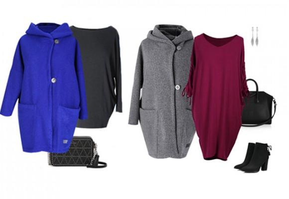 Modne płaszcze oversize w sklepie XL-ka