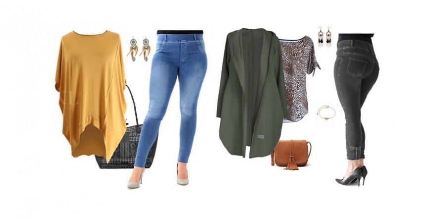 Przegląd jeansów plus size – gładkie, z dziurami i długości 3/4