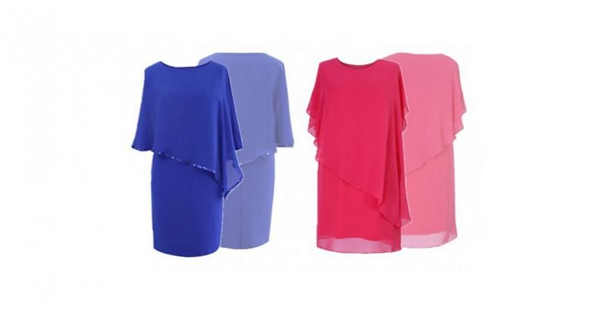 Sukienki na wesele maskujące brzuch - dwie nowe propozycje XL-ki