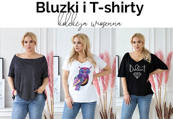 Wiosenne bluzki i t-shirty plus size - poznaj naszą nową kolekcję i sprawdź najnowsze trendy.
