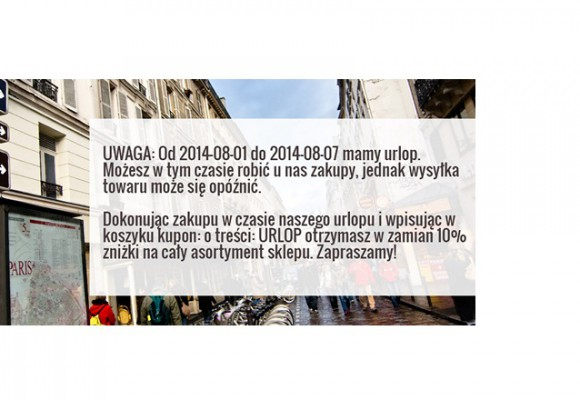 XL-ka na urlopie w terminie 01.08-07.08.2014 - w tym czasie kupuj ze niżką
