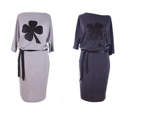 Duże rozmiary sukienek dresowych - rabat 30 zł