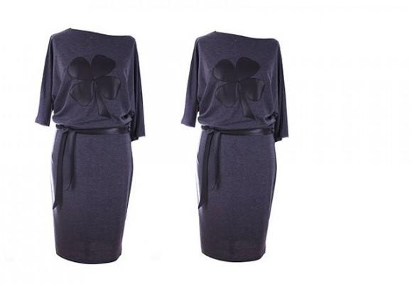 Ciemna sukienka dresowa - ponownie w ofercie XL-ki