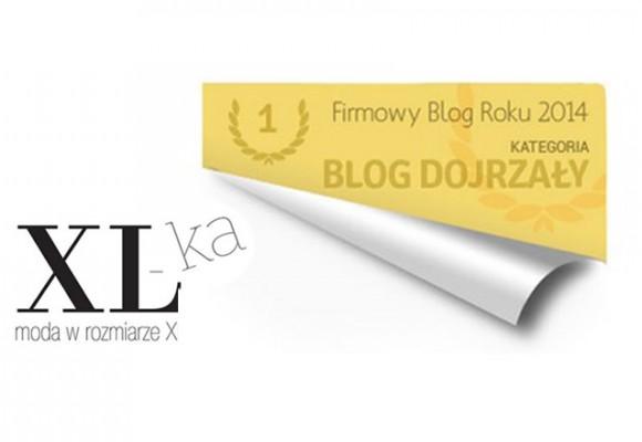 Nagroda za najlepszy firmowy blog roku 2014 dla blogspot XL-ki