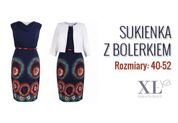 Elegancki i praktyczny komplet damski - sukienka z bolerkiem