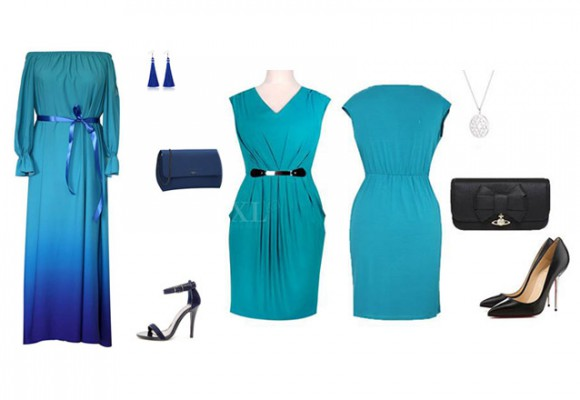 Sukienka koktajlówka w kolorze turkusowym - lubiana LUNA w nowym kolorze