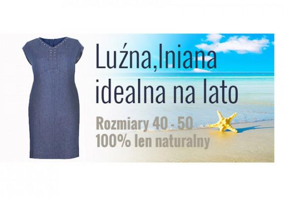 Luźna letnia sukienka z naturalnego lnu - nowość w XL-ka