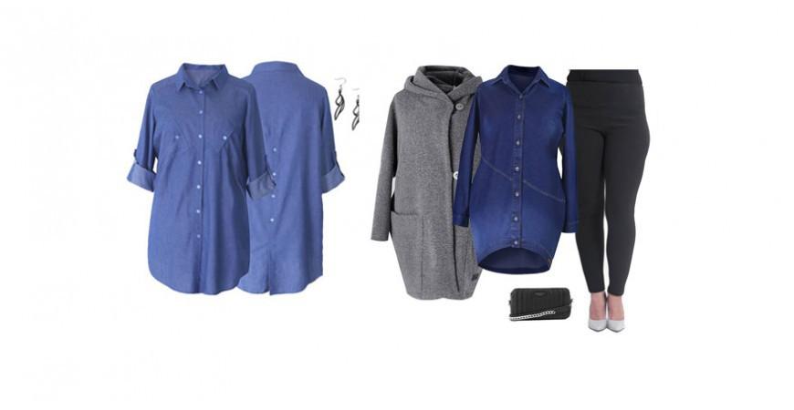Koszula jeansowa w rozmiarze XXL - ponadczasowa i zawsze modna
