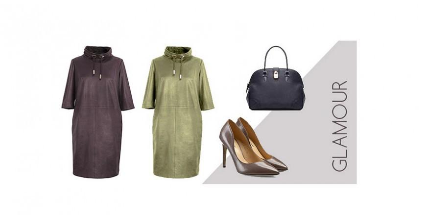 Sukienki z ekoskóry - nowość w XL-ka
