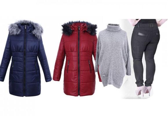 Płaszcze pikowane na zimę - duże rozmiary