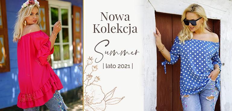 kolekcja letnia bluzki i sukienki plus size na lato 2021