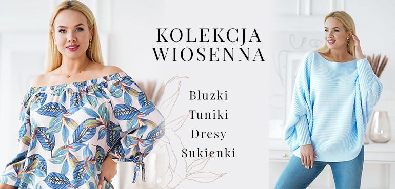 moda plus size w sklepie internetowym xlka - kolekcja wiosenna bluzki, tuniki, sukienki plus size